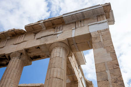 Antique greek temple column detail Editorial