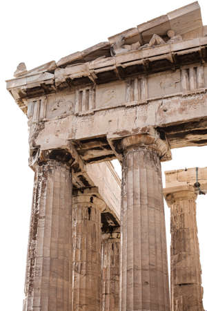 Fragment of The Parthenon, an archaic temple located on the Acropolis of Athens