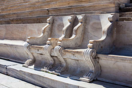 Panathenaic stadium or kallimarmaro in Athens - detail