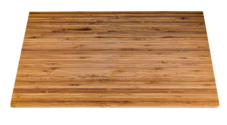 Wooden cutting board isolated Stock Photo
