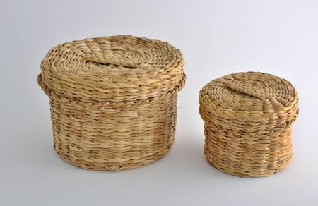 osier: Baskets of straw for storing small items, sewing, seamstress