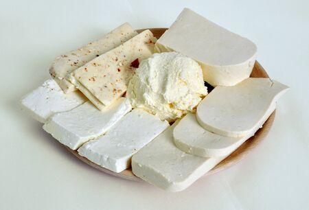 garnishing: garnishing cheese Stock Photo