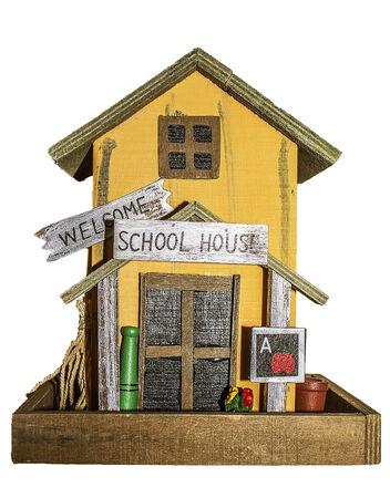 bird house school house Stock Photo