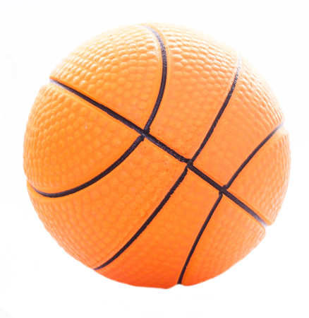 Rubber basketball isolated on white
