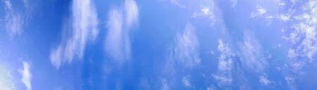 cloudscape on a sunny sky