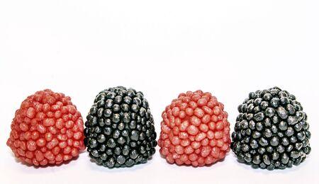 raspberries on white Stock Photo