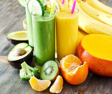 Healthy drink with fruits and vegetables