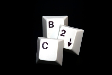 b2c: Single keys that show the word B2C with black background Stock Photo