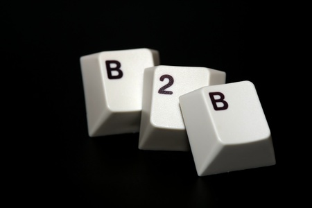 Single keys that show the word B2B with black background