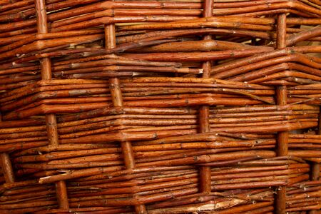 braided flexible: Closeup of brown plaited willow