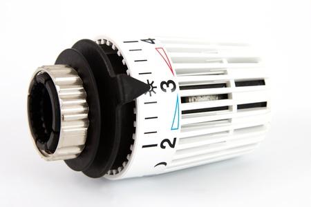 Heizung Thermostat bei Sonne mit einem weißen Hintergrund Standard-Bild - 11323585