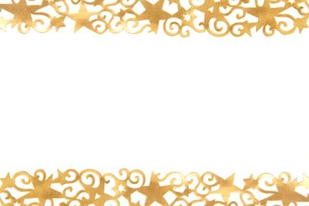 흰색 배경 앞의 황금 화려한 별