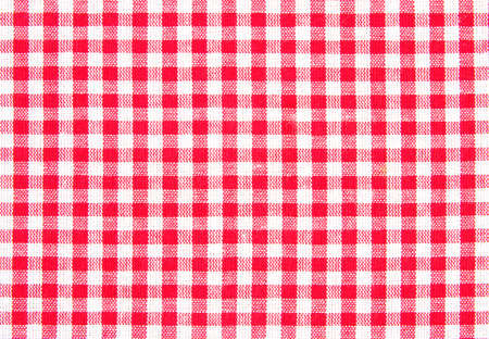 Checked pattern with white and red color photo