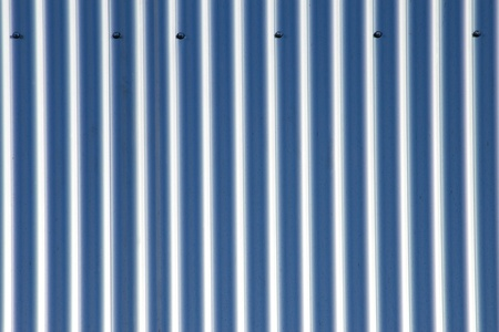 Detail of some aluminium corrugated sheets photo