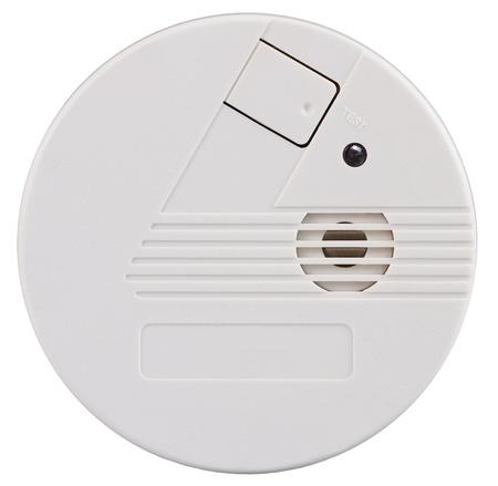 Nahaufnahme eines Rauchmelders über einen weißen Hintergrund Standard-Bild - 12201673
