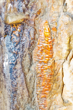 Abstract closeup of rocks in a dripstone cave