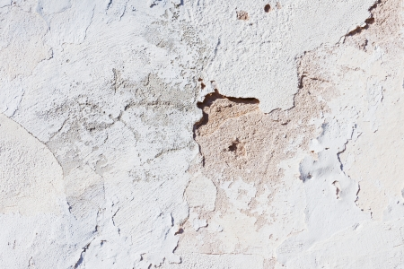 Abstract closeup of a plastered front with white paint