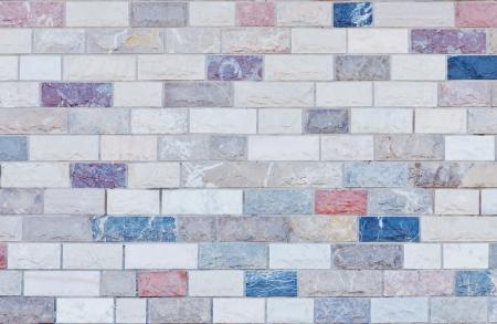 Detail of a colorful clinker brick front Standard-Bild