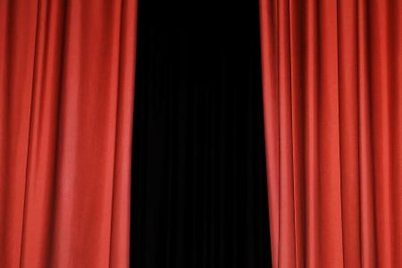 Detail of a red rising curtain in a theatre Standard-Bild