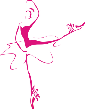 graceful: Ballet lady. Hand drawing.