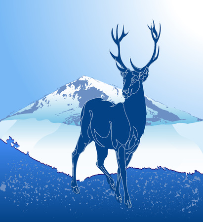 Deer in nature Illustration