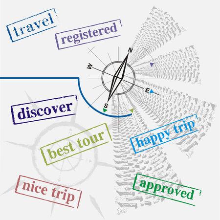 ink jet: travel sign