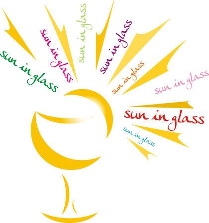 sun glass: sol en vidrio