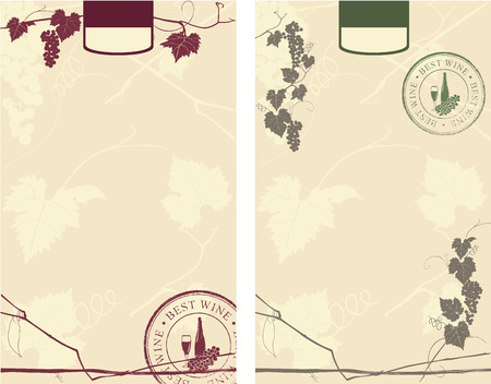 free vector art: wine label