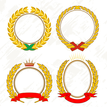 Gold laurel wreath Illustration