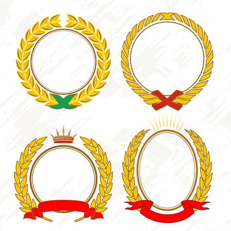 Gold laurel wreath Illustration