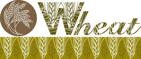 wheat bar and logo Vector