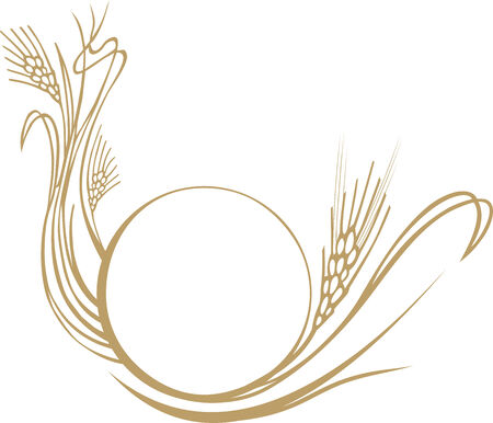 wheat illustration: wheat ears