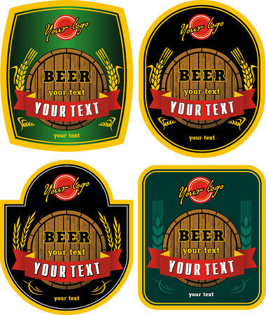 beer labels Stock Vector - 6057367