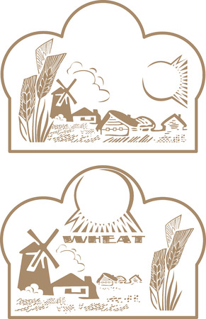 wheat label Illustration