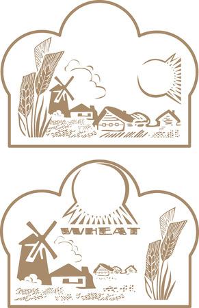 wheat label Illustration