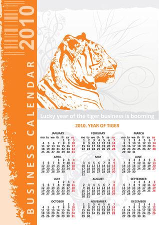 creative bussines calendar 2010 Vector