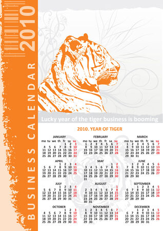 creative bussines calendar 2010 Vector