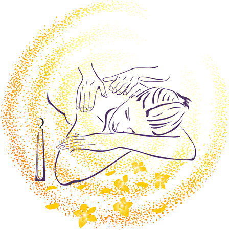 massage spa: Spa massage illustration