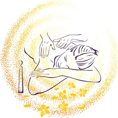 Spa massage illustration Stock Vector - 6179482