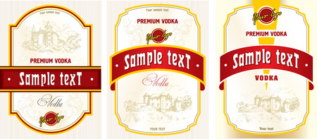 cor: Label design - vodka Illustration