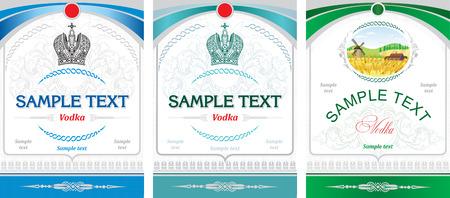 Label design - vodka 矢量图片