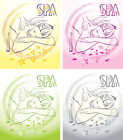 Spa massage illustration