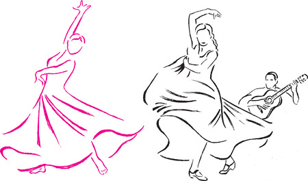 theatrical dance: Dance expression Illustration