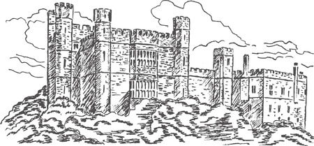 Old castle Vector