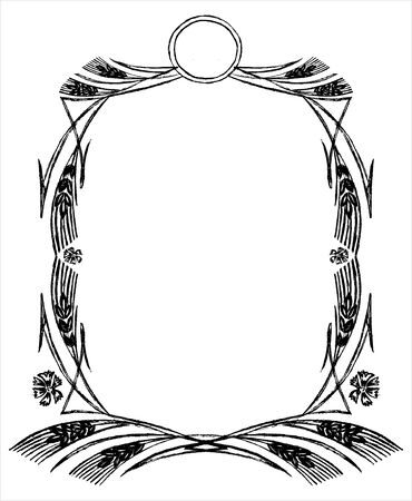Creative wheat frame Vector