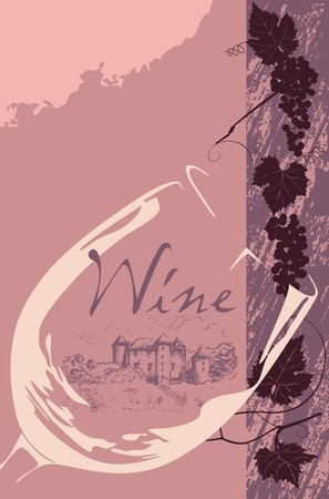 grapevine: Wine label Illustration