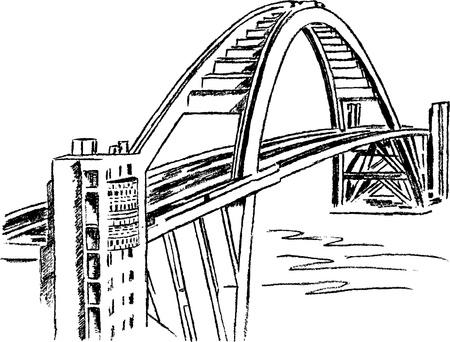 built: Famous bridge of Canada