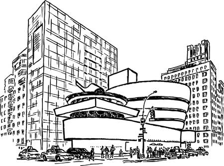 new york street: Mus�e Guggenheim � New York city