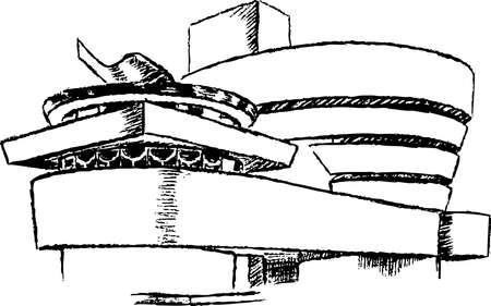 wright: Guggenheim museum  in New York city