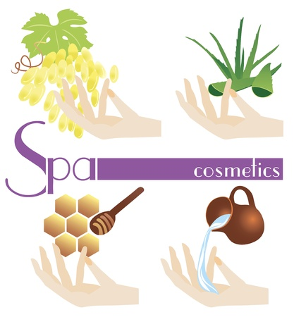 Spa cosmetics, vector set  Stock Vector - 19584958